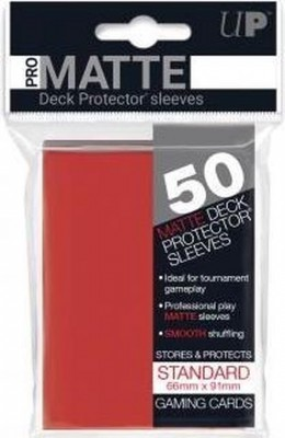 Ultra Pro Sleeves Matte Red Standard (50st)