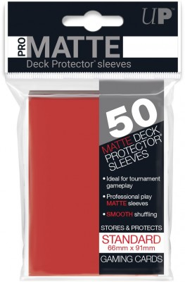Ultra Pro Sleeves Matte Red