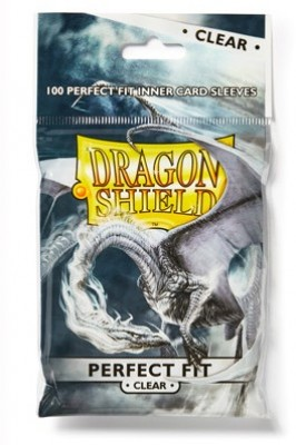 Dragon Shield Standard Perfect Fit Sleeves - Clear/Clear (100 Sleeves)