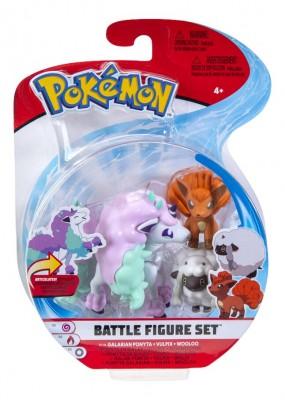 Battle Figure Set Galarian Ponyta - Vulpix - Wooloo