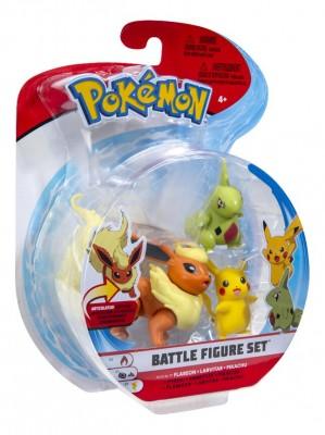 Battle Figure Set Flareon - Larvitar - Pikachu