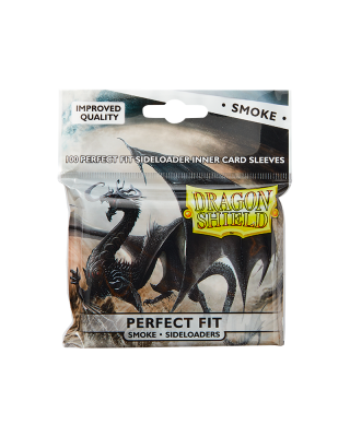 Dragon Shield Standard Perfect Fit Sideloading Sleeves - Clear/Smoke (100 Sleeves)