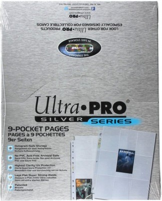 Silver 9-Pocket Pages Display - 100 pcs