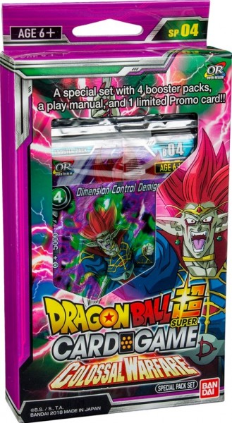 Dragon Ball SCG S4 Colossal Warfare Special Pack