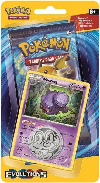 XY12 Evolutions Checklane Blister - Weezing