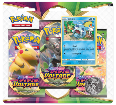 Sword & Shield Vivid Voltage 3 Pack Blister Sobble