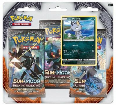 Sun & Moon Burning Shadows 3-pack blister Alolan Meowth