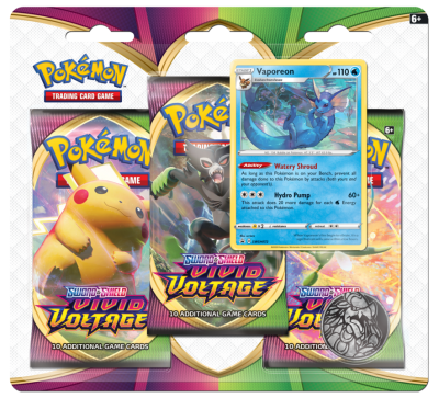 Sword & Shield Vivid Voltage 3 Pack Blister Vaporeon