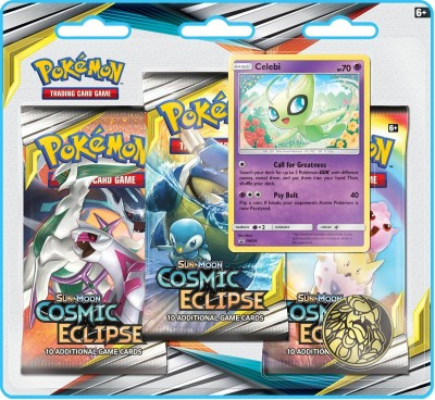 Sun & Moon Cosmic Eclipse 3-Booster Blister - Celebi