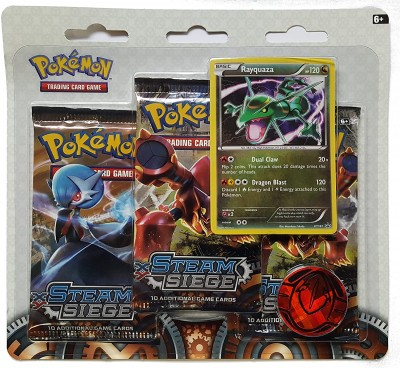 XY11 Steam Siege 3-Booster Blister - Rayquaza