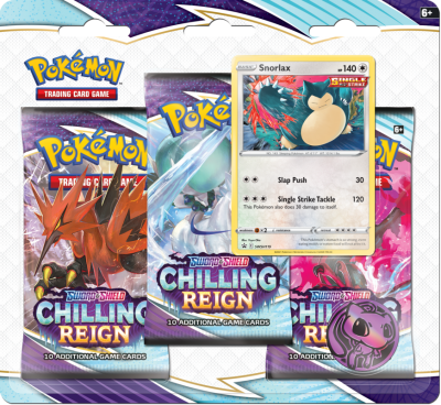 Sword & Shield Chilling Reign 3 - Pack Blister Snorlax