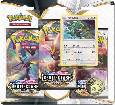 Sword & Shield Rebel Clash 3-Booster Blister - Rayquaza