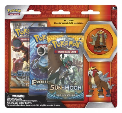 Legendary Beasts Collection Pin 3-pack - Entei