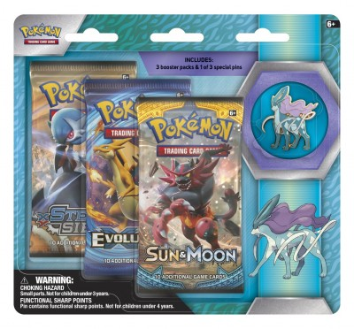 Legendary Beasts Collection Pin 3-pack - Suicune