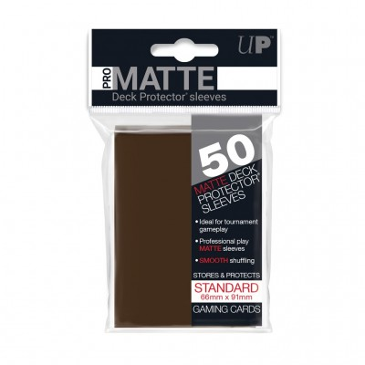 Ultra Pro Sleeves Matte Brown (50st)
