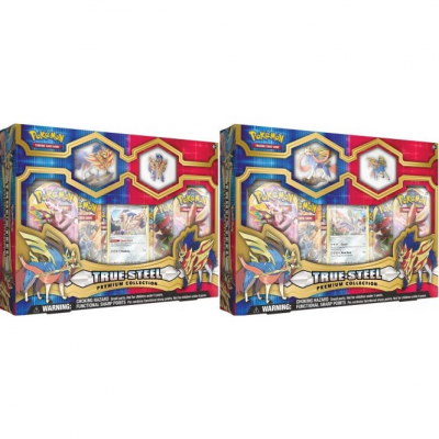 Premium Figure & Pin Collection Box - Zamazenta & Zacian COMBO