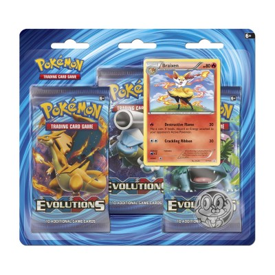 XY12 Evolutions 3-Booster Blister - Braixen