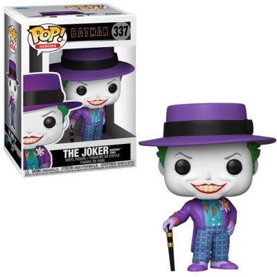 Funko Pop 337 Batman 1989-Joker w/Hat w/Chase