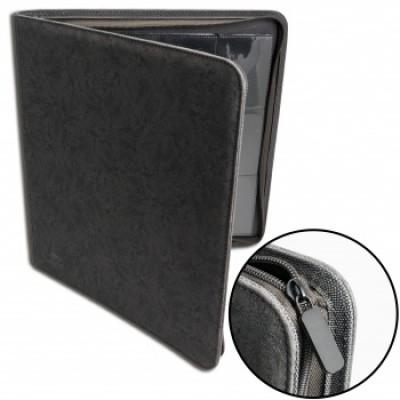 12-Pocket Premium Zip Album Black