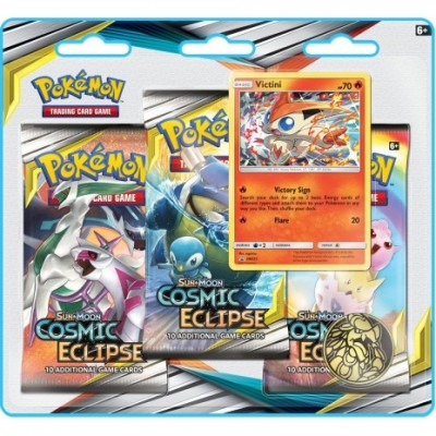 Sun & Moon Cosmic Eclipse 3-Booster Blister - Victini