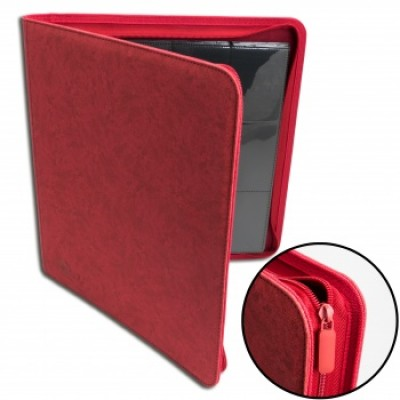 12-Pocket Premium Zip Album Rood