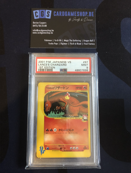 Japanse VS Lance's Charizard 1st Edition PSA9