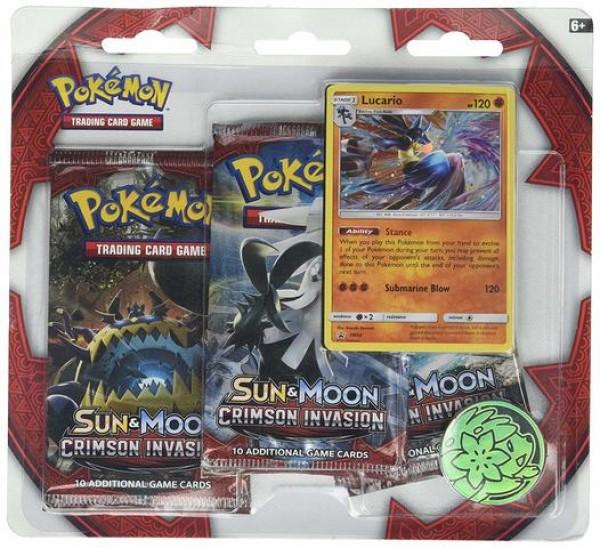 Sun & Moon Crimson Invasion 3- booster blister - Lucario
