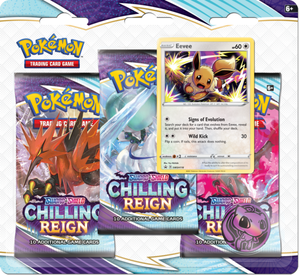 Sword & Shield Chilling Reign 3 - Pack Blister Eevee