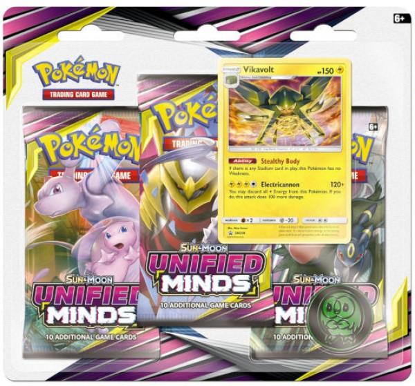 Sun & Moon Unified Minds 3-booster Blister Vikavolt