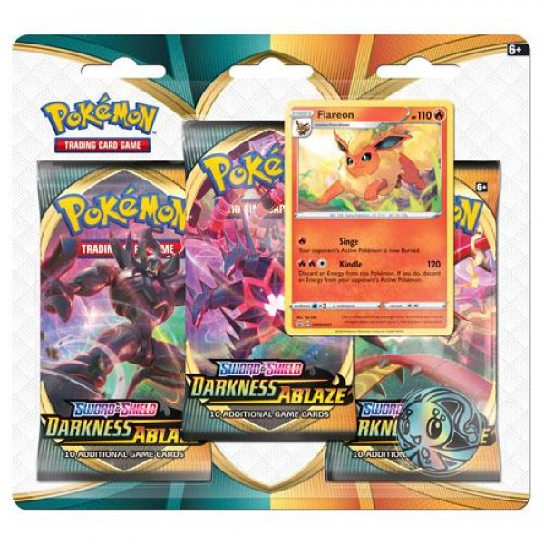 Sword & Shield Darkness Ablaze 3 Pack Blister - Flareon