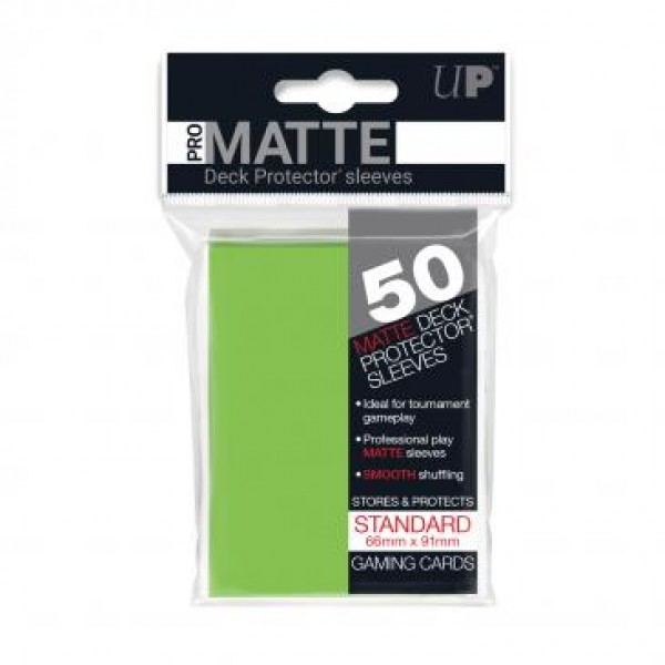 Ultra Pro Sleeves Matte Lime Green (50st)