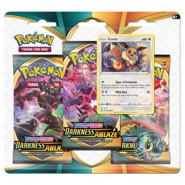 Sword & Shield Darkness Ablaze 3 Pack Blister - Eevee