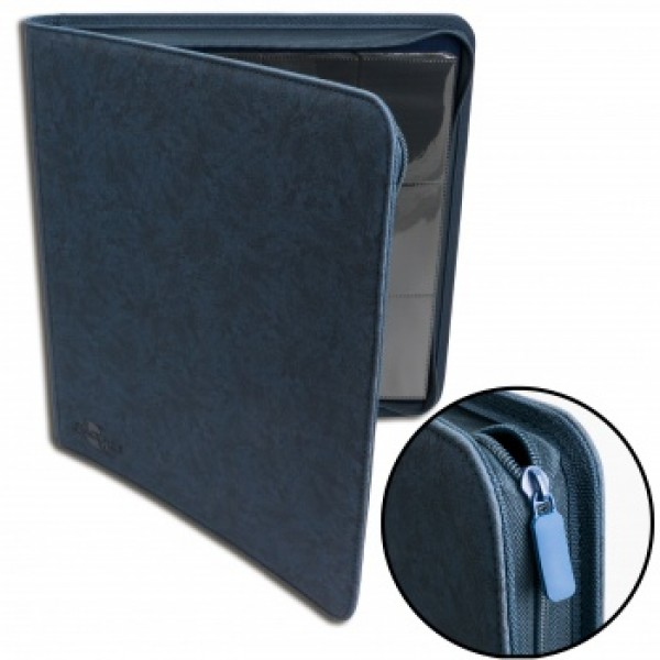 12-Pocket Premium Zip Album Blauw