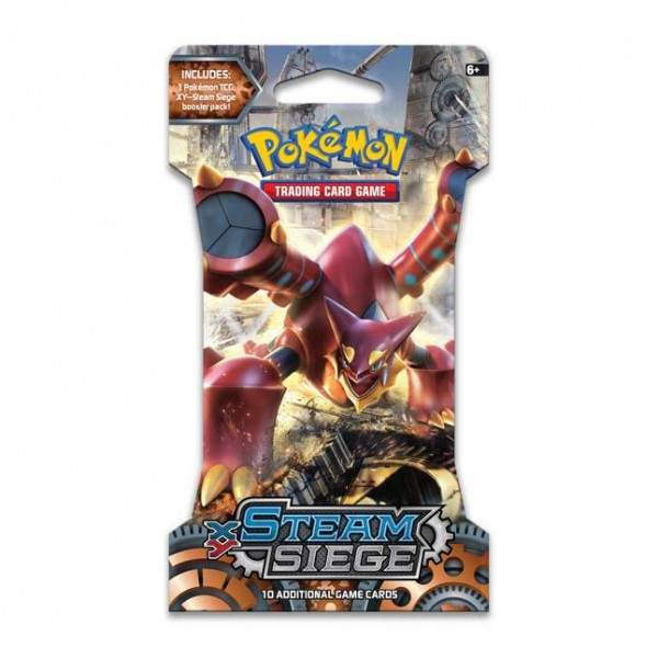 XY Steam Siege Sleeved Boosterpack