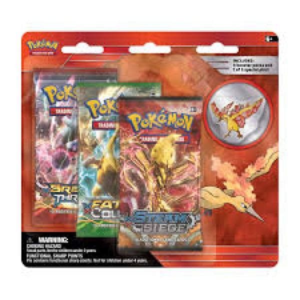 3-Pack Blister Collectors Pin - Moltres