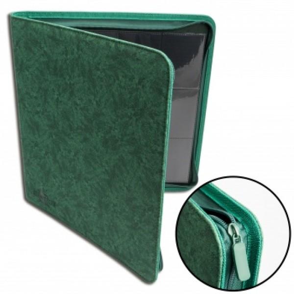 12-Pocket Premium Zip Album Green