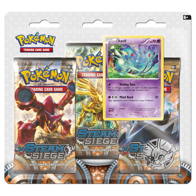 XY11 Steam Siege 3-Booster Blister - Azelf