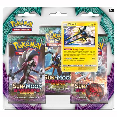 Sun & Moon 2 Guardians Rising 3-Booster Blister - Vikavolt